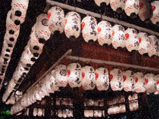 Japan, Paper Lanterns, Buddhist Temple, Japan.