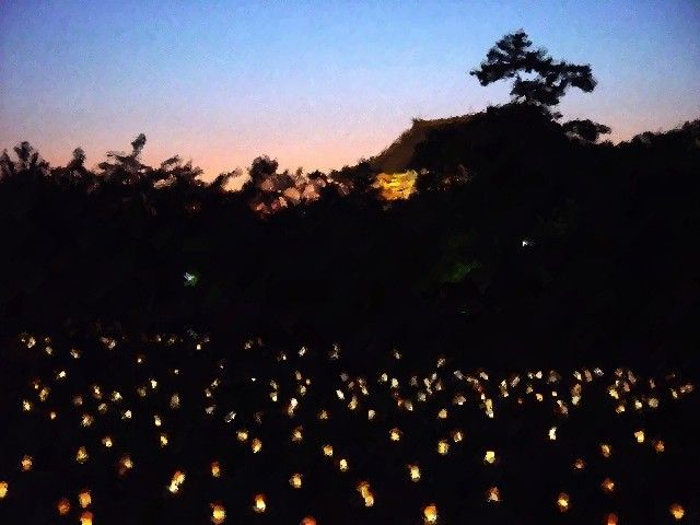 Japanese Temple, Paper Lanterns, Nara, Japan